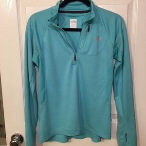 The North Face Women's Teal Mint Quarter 1/4 Zip